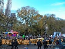 Climat global mars et Rassemblement-nouvelle ville de York, NY Etats-Unis Photographie stock