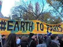 Climat global mars et Rassemblement-nouvelle ville de York, NY Etats-Unis Image libre de droits