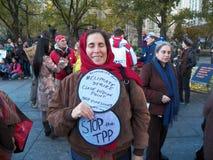 Climat global mars et Rassemblement-nouvelle ville de York, NY Etats-Unis Photos stock