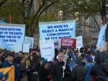 Climat global mars et Rassemblement-nouvelle ville de York, NY Etats-Unis Images stock