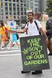 Climat mars NYC 2014 photographie stock
