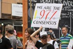 Climat mars NYC 2014 Image libre de droits