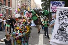 Climat mars NYC 2014 Photos libres de droits