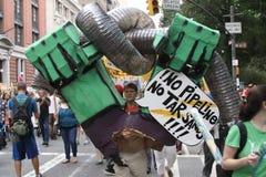 Climat mars NYC 2014 photo libre de droits