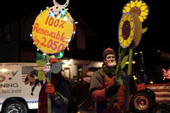 Climate activists participate in holiday parade Stock Photography