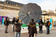 Climate acton on Paris town hall square, Paris, France. Stock Photos