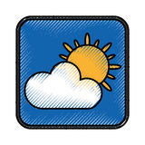 Climate application isolated icon Royalty Free Stock Images