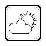 Climate application isolated icon Royalty Free Stock Photography