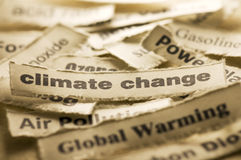 Climate Chage. Picture of words associate with climate change Royalty Free Stock Image