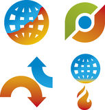 Climate change. Illustration of four climate change icons (vector Royalty Free Stock Photo