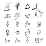 Climate change cartoon drawing Royalty Free Stock Photos