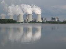 Climate change, Coal-fired power plant Royalty Free Stock Photo