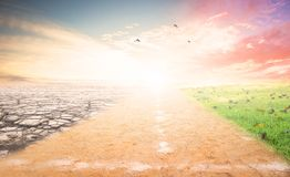 A Climate Change Concept Image Royalty Free Stock Photography