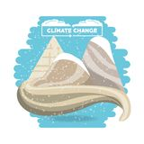 Climate change design. With snowfall over the moutains on  white background, colorful design vector illustration Stock Photo