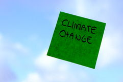 Climate change, global warming concept, post it note, environment stock photos