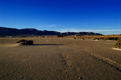 Climate change, global warming: Dry salt lake Stock Photography