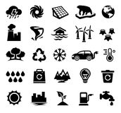 Climate Change, Global Warming, Ecology, Environment. Vector Illustration of Climate Change Icons. Best for Environment, Ecology, Climatology, Conservation Royalty Free Illustration