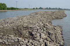 Climate change, the ground is dry, drought, cracked ground Royalty Free Stock Photo