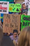 Climate Change - Ides of March 2019. Adelaide, AU - March 15, 2019: Thousands of students in Adelaide gather outside of Parliament House demanding action on royalty free stock photos