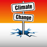 Climate change plate Royalty Free Stock Images
