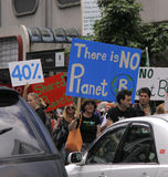 Climate Change protest march Royalty Free Stock Photos