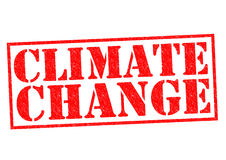 CLIMATE CHANGE. Red Rubber Stamp over a white background stock photography