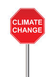 Climate change sign Royalty Free Stock Images