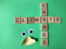 Climate Change, Environmental issues creative concept stock photography