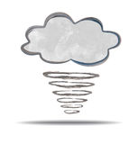 Climate. cloud and hurricane Royalty Free Stock Photo