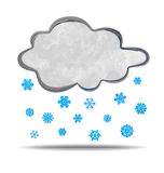 Climate. Cloud snowing Stock Photo