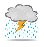 Climate. cloud, thunder and rain Royalty Free Stock Photo