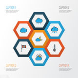 Climate Colorful Outline Icons Set. Collection Of Clouded, Tornado, Scale And Other Elements. Also Includes Symbols Such. Climate Colorful Outline Icons Set Stock Images