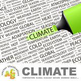 CLIMATE. Concept illustration. Graphic tag collection. Wordcloud collage Stock Image