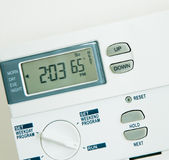 Climate Control 65 degree heat Stock Images
