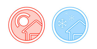 Climate control icon Stock Photography
