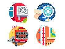 Climate control icons Royalty Free Stock Image