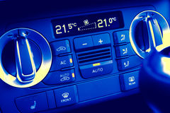 Climate control in motor car Royalty Free Stock Image