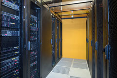Climate controlled datacenter Royalty Free Stock Photos