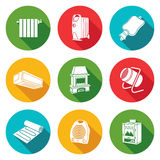 Climate, equipment Icons Set. Vector Illustration. Stock Image