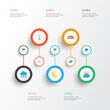 Climate Flat Icons Set. Collection Of Temperature, Overcast, Windy And Other Elements. Also Includes Symbols Such As Royalty Free Stock Photos