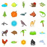 Climate icons set, cartoon style Royalty Free Stock Photography