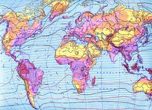 Climate map of the world HR Royalty Free Stock Images