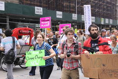 Climate March NYC 2014 Royalty Free Stock Image