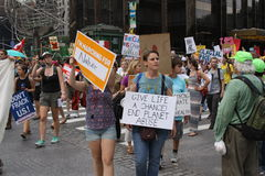 Climate March NYC 2014 Stock Photos