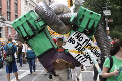 Climate March NYC 2014. New Yorkers come in the thousands in the streets of New York to demostrate in favor of climate control, with the objective of sending a Royalty Free Stock Photo