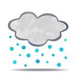 climate nuage et grêle illustration libre de droits