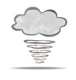 climate nuage et ouragan illustration libre de droits