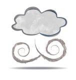 climate nuage et vent illustration stock
