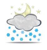 climate Nuage, lune et neige illustration libre de droits