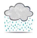 climate Nuage pleuvant illustration stock